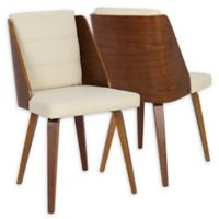 Lumisource™ Galanti Faux Leather Upholstered Dining Chairs in Cream/Brown (Set of 2)