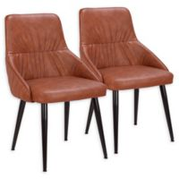 Lumisource™ Alden Faux Leather Upholstered Dining Chairs in Black/Brown (Set of 2)
