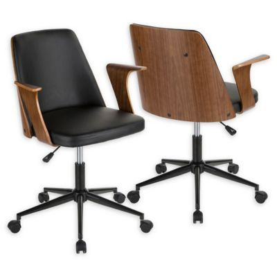 Lumisource™ Faux Leather Upholstered Chair In Walnut/black
