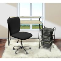 Urban Shop Faux Leather Upholstered Chair in Black