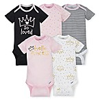 Gerber® ONESIES® Brand Newborn 5-Pack Princess Short Sleeve Bodysuits