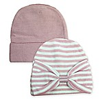 Toby™ NYGB 2-Piece Hat Set in Rose/Ivory
