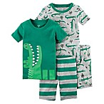 carter's® Size 18M 4-Piece Alligator Pajama Set in Green