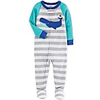 carter's® Size 12M Whale Striped Footed Pajama