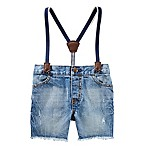 OshKosh B'gosh® Size 9-12M Sun-Faded Suspender Short in Medium Wash