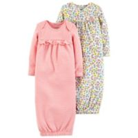 carter's® Preemie 2-Piece Floral and Striped Gown Set