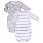 Asher and Olivia® Size 0-6M 2-Piece Stripe and Polka Heart Sleep Bags