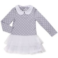 Asher and Olivia® Size 6-9M Polka Dot Tutu Dress in Grey