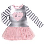 Asher and Olivia® Size 3-6M Striped Heart Tutu Dress in Pink