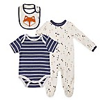 asher and olivia® Size 0-3M 3-Piece Woodland Fox Layette Set in Blue