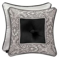 J. Queen New York Chancellor 18-Inch Square Throw Pillow in Black