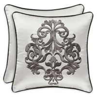 J. Queen New York Chancellor 18-Inch Square Throw Pillow in Silver