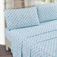 Sara B Collection Sundial King Sheet Set in Blue