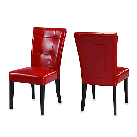 Belicca Dining Chairs in Red (Set of 2)