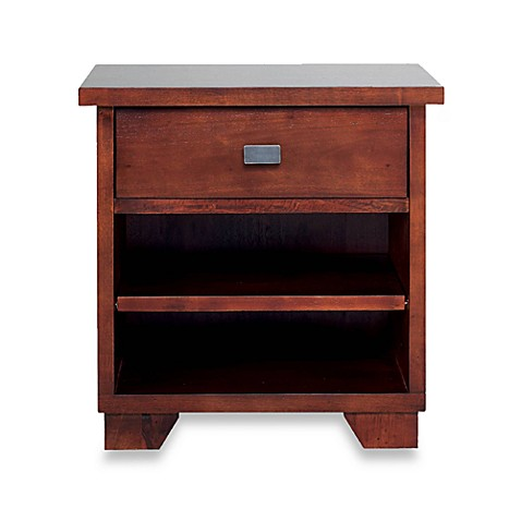 Cailley 1-Drawer Nightstand in Saddle Brown