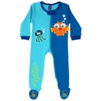 Sozo® Size 6-9M Fish Footed Romper in Blue