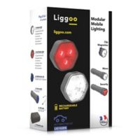 Liggoo Rechargeable LED Automotive Mobile Light in Blue (Set of 2)
