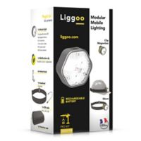 Liggoo Rechargeable LED Pack Pro for Helmets Mobile Light in Yellow