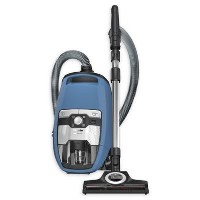 Miele Blizzard CX1 Electro+ Bagless Canister Vacuum In Blue