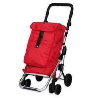 PlayMarket Go Up Rolling Shopping Trolley in Red