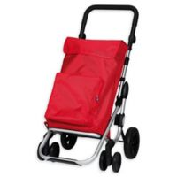 PlayMarket Go Plus Rolling Shopping Trolley in Red