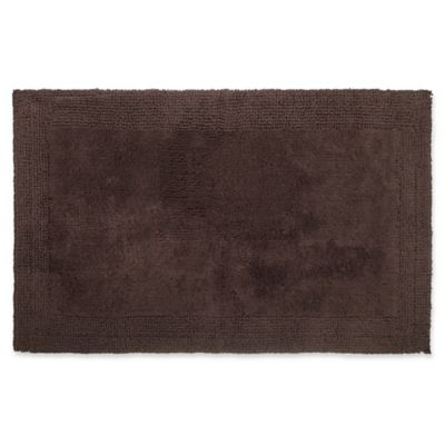 Wamsutta Ultra Fine Reversible 17 X 24 Bath Rug In Chocolate