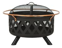 Safavieh Bryce Wood-Burning Fire Pit in Copper/Black