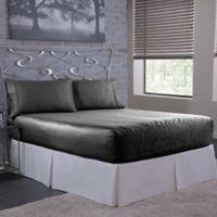 Bed Tite 300-Thread-Count Luxury Satin Queen Sheet Set in Black