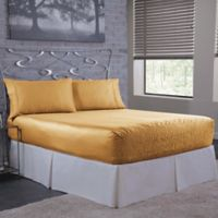 Bed Tite 300-Thread-Count Luxury Satin King Sheet Set in Gold