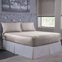 Bed Tite 300-Thread-Count Luxury Satin Queen Sheet Set in Silver