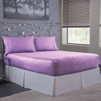 Bed Tite 300-Thread-Count Luxury Satin King Sheet Set in Lilac