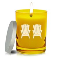 Carved Solutions Gem Collection Adirondack Chairs Citrine Soy Wax Candle