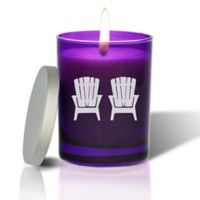 Carved Solutions Gem Collection Adirondack Chairs Amethyst Soy Wax Candle