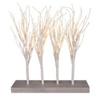 18-Inch LED Lighted Birch Tree Centerpiece
