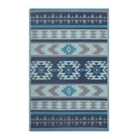 Fab Habitat Cusco 4' x 6' Indoor/Outdoor Area Rug in Blue