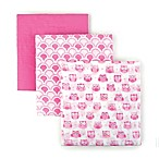 Tadpoles Owl Cotton Muslin Receiving Blankets in Pink (Set of 3)