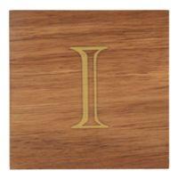 "Thirstystone® Acacia Monogram ""I"" Single Coaster in Gold"