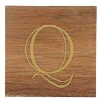 "Thirstystone® Acacia Monogram ""Q"" Single Coaster in Gold"