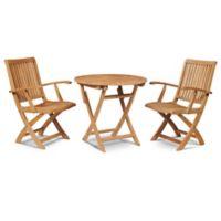 Hiteak Furniture Velencia 3-Piece Outdoor Bistro Set