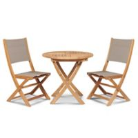Hiteak Furniture Stella 3-Piece Outdoor Bistro Set