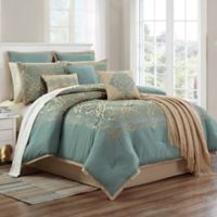 Declan 14-Piece Queen Comforter Set in Teal
