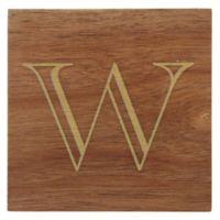 "Thirstystone® Acacia Monogram ""W"" Single Coaster in Gold"