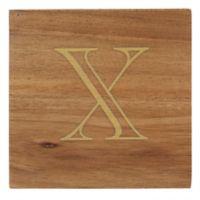 "Thirstystone® Acacia Monogram ""X"" Single Coaster in Gold"