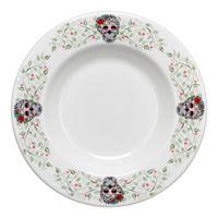 Fiesta® Halloween Sugar Skull Pasta Bowl in White