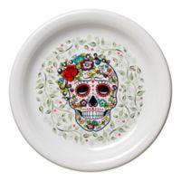 Fiesta® Halloween Sugar Skull Appetizer Plate in White