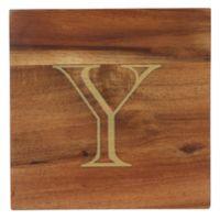 "Thirstystone® Acacia Monogram ""Y"" Single Coaster in Gold"
