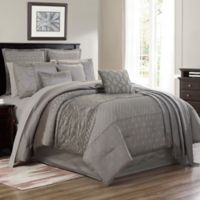 Lebesque 14-Piece Queen Comforter Set in Grey