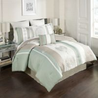 Arnella 8-Piece Full Comforter Set in Taupe