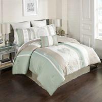 Arnella 8-Piece California King Comforter Set in Taupe