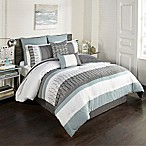 Hadden 8-Piece Full Comforter Set in Blue